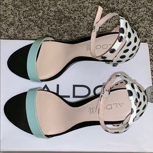 Polka Dot heeled sandals